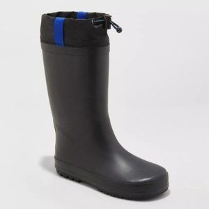 Cat & Jack Caleb Waterproof Rain Muck Boots Black